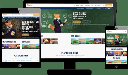 foxy bingo responsive screenshot
