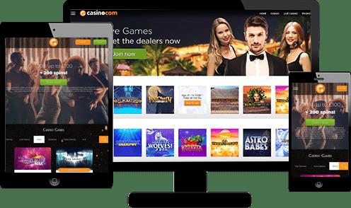 Casino.com Screenshots
