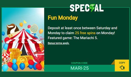 fair go casino fun monday bonus