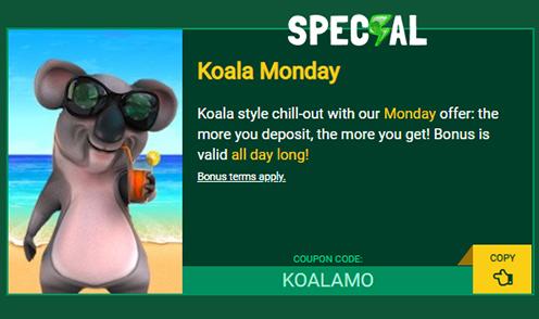 fair go casino koala monday bonus