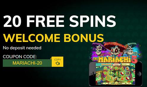 Fair Go 20 Free Spins No Deposit Mariachi Bonus