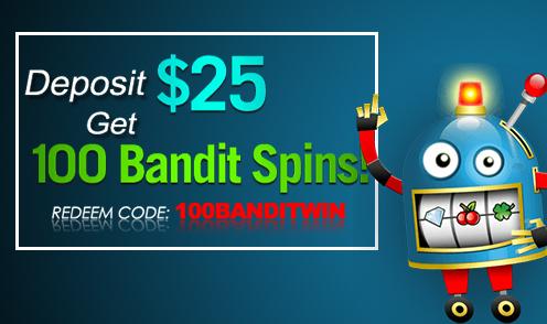 slotocash 100 bandits spins