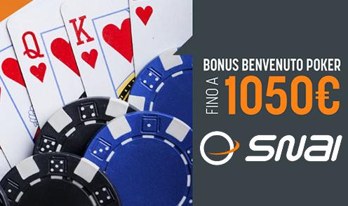 snai poker welcome bonus