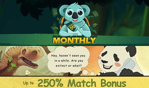two-up casino 250% match bonus